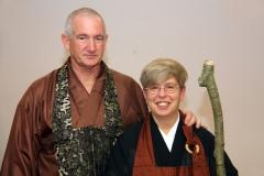 Linda und ihr Lehrer Al Fusho Rappaport Sensei